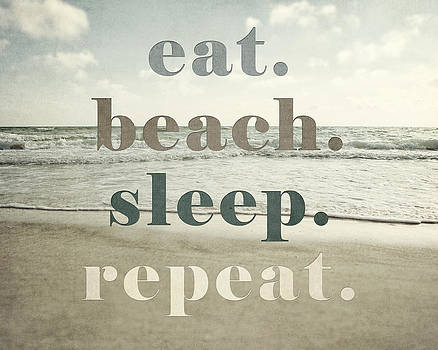 Lisa Russo - Eat. Beach. Sleep. Repeat. Beach Typography