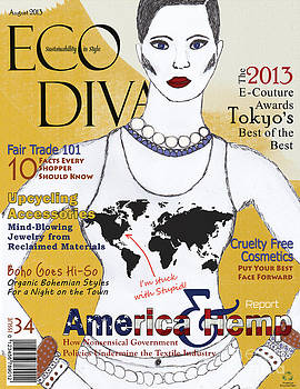 Eco Diva Spoof Magazine Cover by Nola Lee Kelsey
