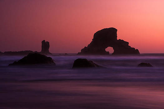 Ecola Beach Sunset by Ross Murphy