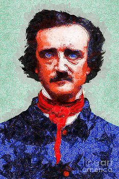 Wingsdomain Art and Photography - Edgar Allan Poe Inspired By Van Gogh 20140921