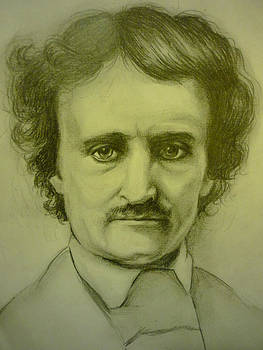 Edgar Allan Poe Pencil Sketch by June Ponte