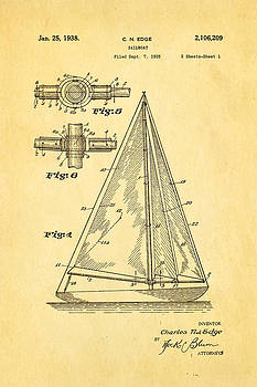 Ian Monk - Edge Sailboat Patent Art 1938