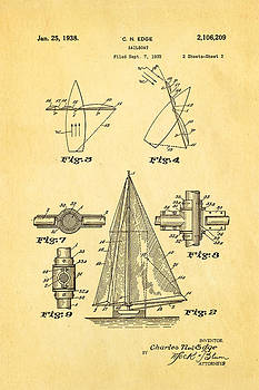 Ian Monk - Edge Sailboat Patent Art 2 1938