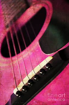 Andee Design - Edgy Pink Guitar