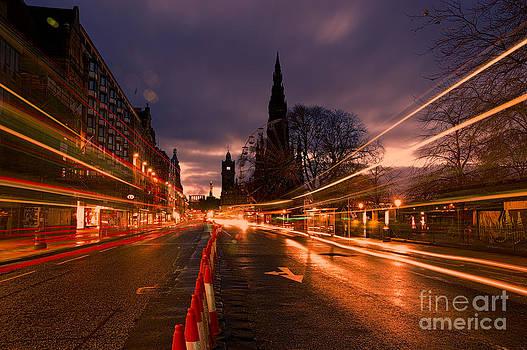Edinburgh Dawn Fire in the Sky by Donald Davis