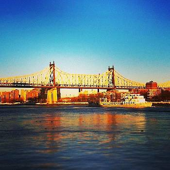 #edkoch #queensborobridge #nyc #ny by Matthew Tarro