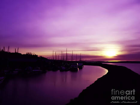 Edmonds Washington Boat Marina Sunset by Eddie Eastwood