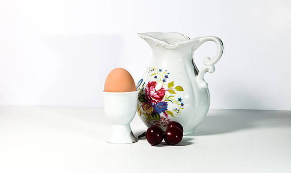 Egg and Cheries by Cecil Fuselier