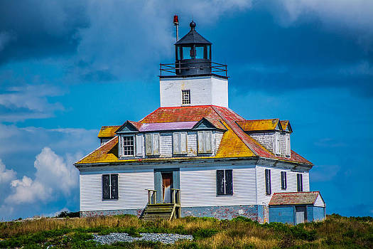 Egg Island Lighthouse Close Up by Jason Brow