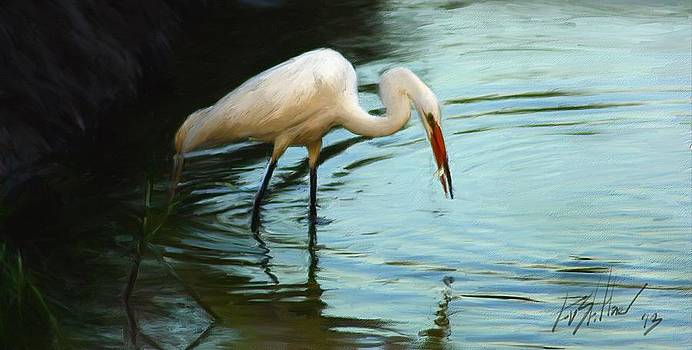Egret at Low Tide by Forest Stiltner