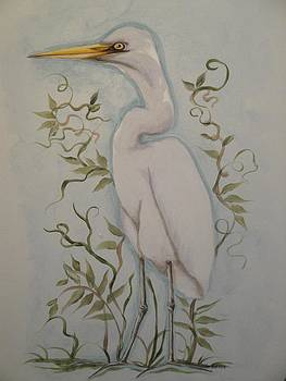 Egret by Sandra Lett