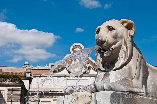 Egyptian lion statue by Luis Alvarenga