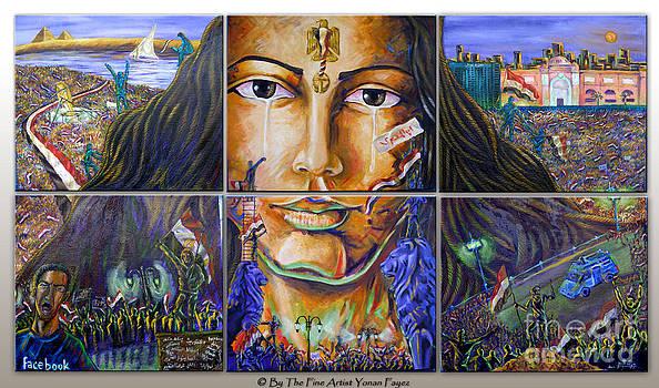 Egyptian Revolution by Yonan Fayez