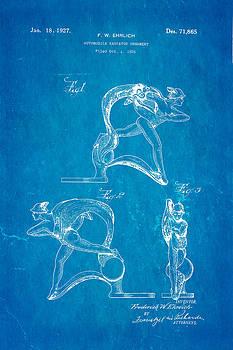 Ian Monk - Ehrlich Hood Ornament Patent Art 1927 Blueprint