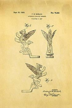 Ian Monk - Ehrlich Hood Ornament Patent Art 1928