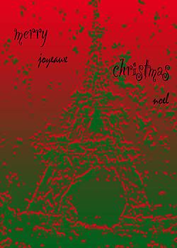 Eiffel Christmas Card by Pamela Canzano