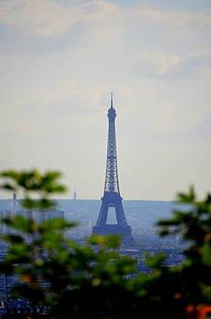 Eiffel Tour From Sacre Coeur by Riad Belhimer