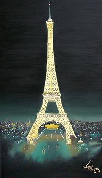 Eiffel Tower - Paris at Night by Wagner Chaves