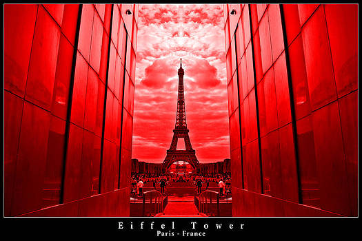 Eiffel Tower in red by Dany Lison