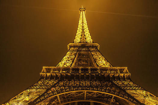 Eiffel tower Paris at nightlight by Valerii Tkachenko