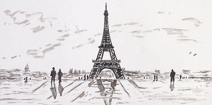 Eiffel Tower Rainy Day by Kevin Croitz