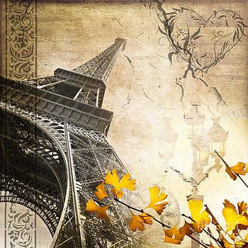 Delphimages Photo Creations - Eiffel tower vintage collage