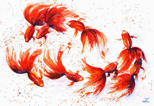 Zaira Dzhaubaeva - Eight Dancing Goldfish