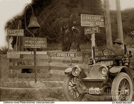 California Views Archives Mr Pat Hathaway Archives - El Camino Real Mission Bell near the Hotel Del Monte Circa 1910