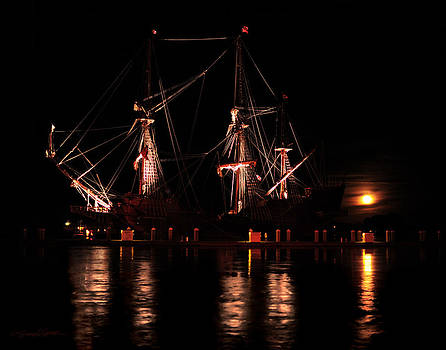 El Galeon at Full Moon by Stacey Sather