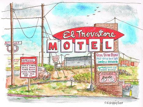 El Trovatore Motel in Route 66, Andy Devine Ave., Kingman, Arizona by Carlos G Groppa