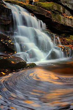 Elakala Falls in autumn in West Virginia by Jetson Nguyen