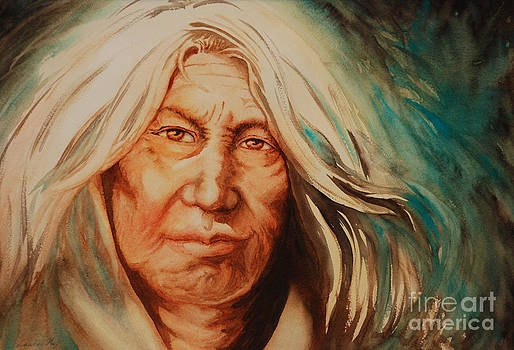 Elderly Apache by Laura Hwang