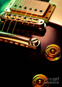 Electric guitar pickup and bridge by Ron Sumners
