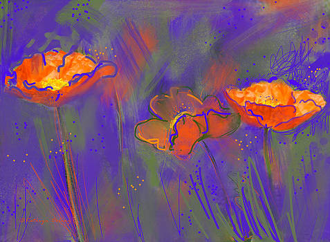 Electric Poppies by Kathryn Delany