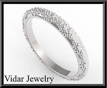 Elegant And Classic 14k White Gold Women Wedding Ring by Roi Avidar