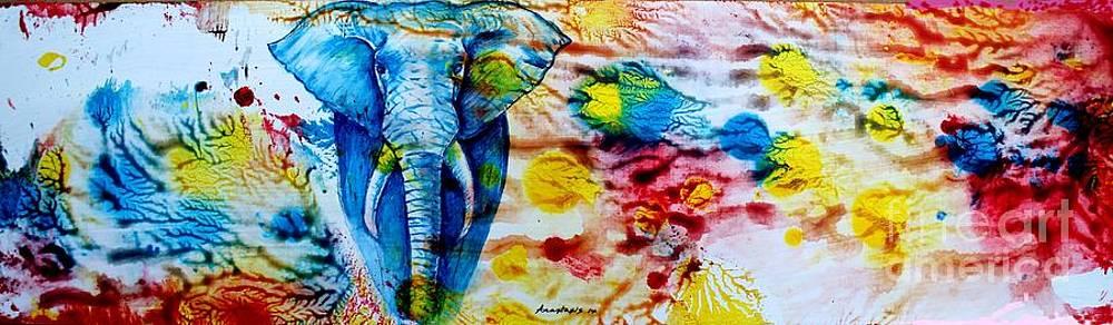 Elepant Abstract by Anastasis  Anastasi