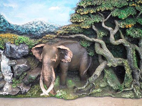 Elephant And Jangal by Sunanda Yapa