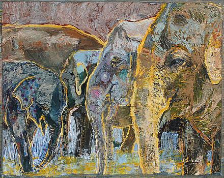 Elephant Herd by Yvonne Gaudet