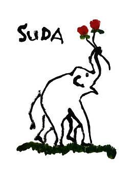 Phongsri Smeaton - Elephant Painting Print The Rose