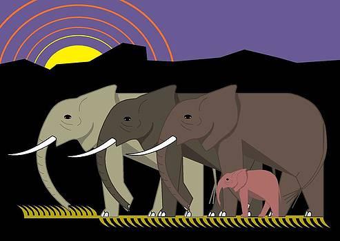 Elephant Parade by Marie Sansone