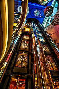 Elevators on the Royal Caribbean adventures of the seas by Craig Bowman