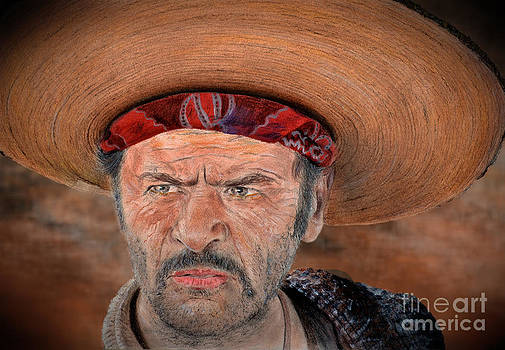 Eli Wallach as Tuco in The Good the Bad and the Ugly Version II by Jim Fitzpatrick