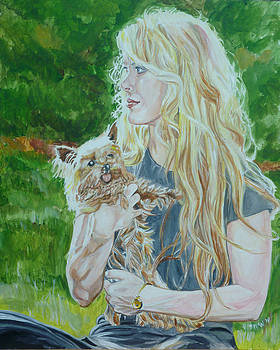 Elizabeth South and Ginger by Bryan Bustard
