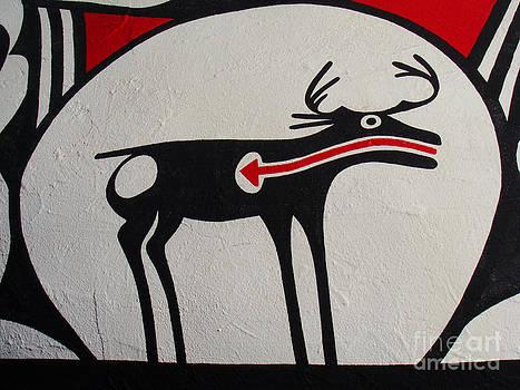 Elk on Jug by Eva Kato