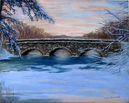 Elm Street Bridge on a Winter's Morn by Jack Skinner