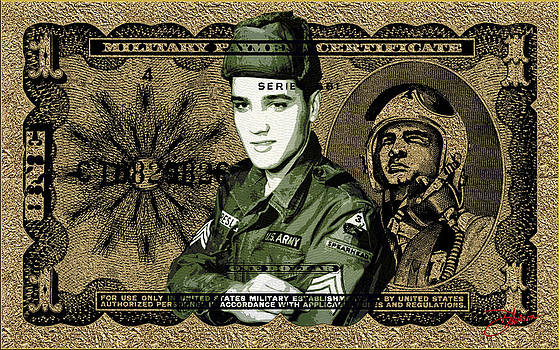 Elvis Gold Military Payment Certificate by Dancin Artworks