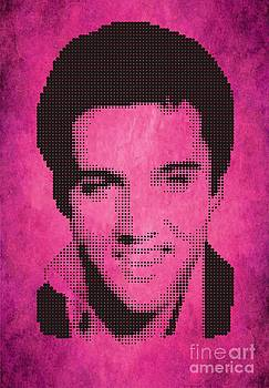 Elvis On Velvet Rose by Rodolfo Vicente