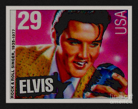 Gail Matthews - Elvis Postal Stamp USA - The King