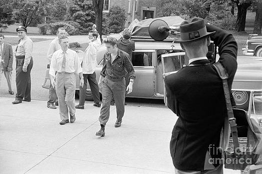 The Harrington Collection - Elvis Presley arriving for a performance in 1956