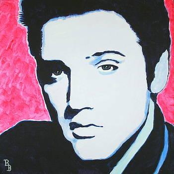 Elvis Presley - Crimson Pop Art by Bob Baker
